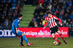 Inigo Cordoba Kerejeta of Athletic Club de Bilbao (R) fights for the ball with Francisco Molinero Calderon of Getafe CF  (L) during the La Liga 2017-18 match between Getafe CF and Athletic Club at Coliseum Alfonso Perez on 19 January 2018 in Madrid, Spain. Photo by Diego Gonzalez / Power Sport Images