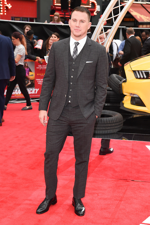 """Channing Tatum<br /> attending the premiere of """"Logan Lucky"""" at the Vue West End, Leicester Square, London. <br /> <br /> <br /> ©Ash Knotek  D3295  21/08/2017"""