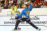 Spain's Perez de Vargas Moreno (r) and Bosnia Herzegovina's Alen Ovcina during 2018 Men's European Championship Qualification 2 match. November 2,2016. (ALTERPHOTOS/Acero)