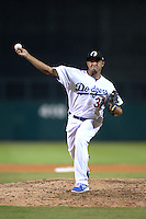 Glendale Desert Dogs pitcher Yimi Garcia (37), of the Los Angeles Dodgers organization, during an Arizona Fall League game against the Peoria Javelinas on October 14, 2013 at Camelback Ranch Stadium in Glendale, Arizona.  Glendale defeated Peoria 5-1.  (Mike Janes/Four Seam Images)