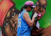 São Paulo, SP - 30.11.2014 - FESTIVAL SP RAP- Grafite é feito durante o SP RAP na praça das artes no centro da capital paulista na tarde deste domingo, (30). (Foto: Renato Mendes / Brazil Photo Press)
