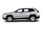 Car Driver side profile view of a 2014 JEEP Cherokee Longitude 4 Door SUV Side View