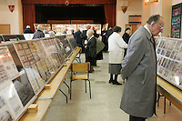 Montreal (Qc) CANADA - April 13, 2008 - <br /> Many people of all ages attend the <br /> BALT-X  XVII stamp show of the Baltic( Estonia, Latvia, and Lithuania) held in MOntreal, CANADA, April 11-13, 2008.<br /> <br /> <br /> MANDATORY PHOTO CREDIT : <br /> photo : Pierre Roussel (c)  Images Distribution