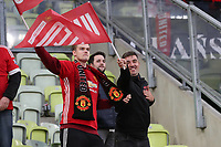 26th May 2021; STADION GDANSK  GDANSK, POLAND; UEFA EUROPA LEAGUE FINAL, Villarreal CF versus Manchester United: Manchester UNited fans show their support