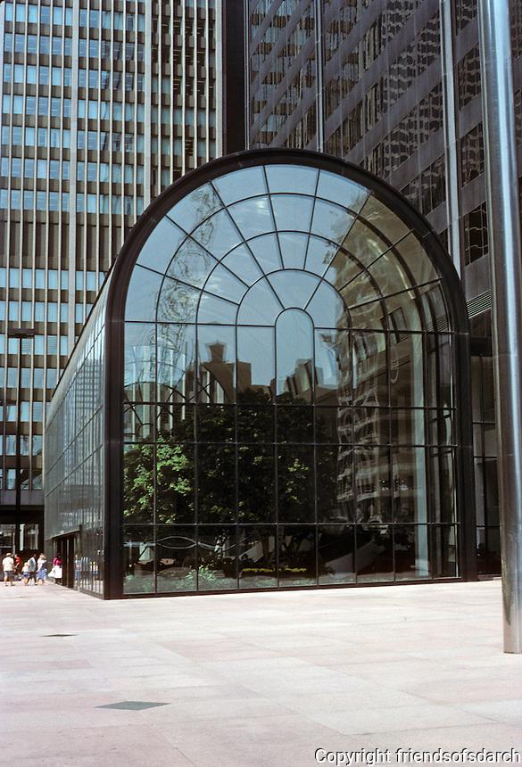 Chicago: Sears Tower, Greenhouse Addition, 1985. Wacker Drive. Photo '88.