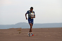 6th October 2021; Etape Mystere ;  Marathon des Sables, stage 4 of  a six-day, 251 km ultramarathon, which is approximately the distance of six regular marathons. The longest single stage is 82 km long. This multiday race is held every year in southern Morocco, in the Sahara Desert. Rachid El Morabity heads for home on the final few kilometers