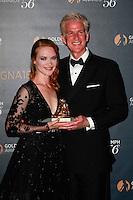Monaco June 15 2016 56th Monte Carlo TV Festival Golden Nymphs Awards Winners Photocalls Best Actress Odile Vuillemin for L Emprise Matthew Modine