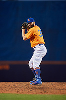 St. Lucie Mets relief pitcher Adam Atkins (36) gets ready to deliver a pitch during a game against the Daytona Tortugas on August 3, 2018 at First Data Field in Port St. Lucie, Florida.  Daytona defeated St. Lucie 3-2.  (Mike Janes/Four Seam Images)