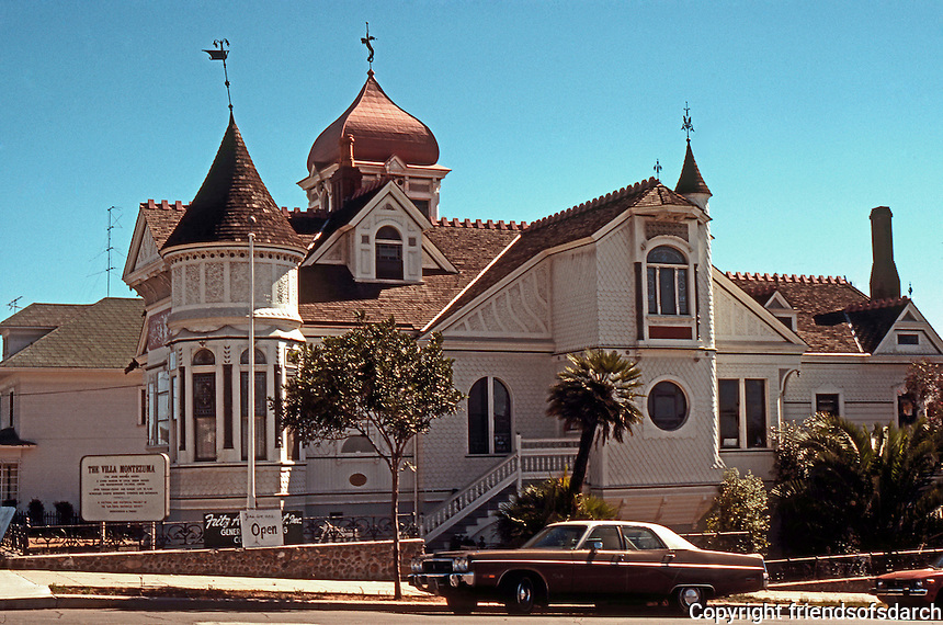 San Diego: Villa Montezuma, 1887. (Jesse Shepard House) 20th & K St., Queen Anne/Victorian style.<br /> Designed by Comstock & Trotsche. NHRP 1971.  Photo Sept. 1978.  NHRP 1971.