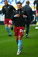 New Scunthorpe signing Jake Taylor warms up during the Sky Bet League 2 match between Tranmere Rovers and Scunthorpe United at Prenton Park, Birkenhead, England on 3 October 2020. Photo by Chris Donnelly/MI News /PRiME Media Images