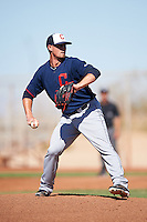 Cleveland Indians pitcher Shawn Armstrong (38) during an Instructional League game against the Kansas City Royals on October 11, 2016 at the Cleveland Indians Player Development Complex in Goodyear, Arizona.  (Mike Janes/Four Seam Images)