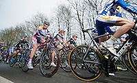 Liège-Bastogne-Liège 2013..Tosh Van der Sande (BEL) always in for some goofing off
