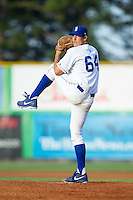 Burlington Royals starting pitcher Corey Ray (64) in action against the Greeneville Astros at Burlington Athletic Park on June 30, 2014 in Burlington, North Carolina.  The Royals defeated the Astros 9-8. (Brian Westerholt/Four Seam Images)