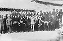Iran 1947 .<br /> Chiefs of Kurdish tribes around Sakkez meeting Iranain Officers after the fall of the Republic of Kurdistan .<br /> Iran 1947 .<br /> Chefs de tribus kurdes des environs de Sakkez rencontrant des officiers iraniens apres la chute de la Republique autonome du Kurdistan a Mahabad