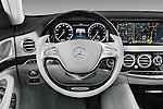 Car pictures of steering wheel view of a 2017 Mercedes Benz S-Class S550-PLUG-IN-HYBRID 4 Door Sedan Steering Wheel