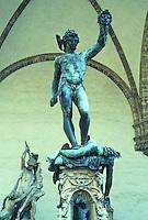 Florence: Perseus, head of Medusa. Loggia Della Signoria. Sculptor--Benvenuto Cellini, 1545-1553. Photo '83.