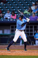 NW Arkansas Naturals designated hitter Ethan Chapman (23) at bat during a game against the San Antonio Missions on May 30, 2015 at Arvest Ballpark in Springdale, Arkansas.  San Antonio defeated NW Arkansas 5-2.  (Mike Janes/Four Seam Images)