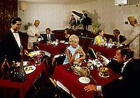 Couples dining in the restaurant at the Desert Inn, Daytona Beach Florida.