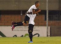 ENVIGADO- COLOMBIA, 31-08-2019.Aldo Leao Ramirez jugador de Águilas Doradas celebra después de anotar un gol al Envigado  durante partido por la fecha 9 de la Liga Águila II 2019 jugado en el estadio Polideportivo Sur de la ciudad de Medellín. /Aldo Leo Ramirez player of Aguilas Doradas celebrates after scoring a goal agaisnt of Envigadoduring the match for the date 9 of the Liga Aguila II 2019 played at Polideportivo Sur stadium in Medellin  city. Photo: VizzorImage / Leon Monsalve/ Contribuidor