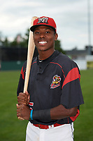 Batavia Muckdogs Demetrius Sims (55) poses for a photo before a game against the Auburn Doubledays on September 6, 2017 at Dwyer Stadium in Batavia, New York.  Auburn defeated Batavia 6-3.  (Mike Janes/Four Seam Images)