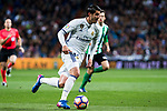 Alvaro Morata of Real Madrid in action  during the match of Spanish La Liga between Real Madrid and Real Betis at  Santiago Bernabeu Stadium in Madrid, Spain. March 12, 2017. (ALTERPHOTOS / Rodrigo Jimenez)