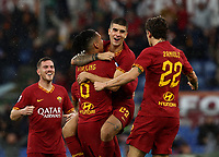 Football, Serie A: AS Roma - Brescia FC, Olympic stadium, Rome, November 24, 2019. <br /> Roma's Chris Smalling (second from left) celebrates after scoring with his teammates during the Italian Serie A football match between Roma and Brescia at Olympic stadium in Rome, on November 24, 2019. <br /> UPDATE IMAGES PRESS/Isabella Bonotto