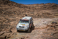 5th January 2021; Dakar Rally stage 3; #369 Piana Marco (fra), Giovanetti David (ita), Toyota, Xtremeplus Polaris Factory Team, Auto, action during the 3rd stage of the Dakar 2021 between Wadi Al Dawasir and Wadi Al Dawasir, in Saudi Arabia on January 5, 2021