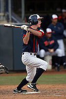 February 21 2010: Austin Kingsolver of Cal. St. Fullerton during game against Cal. St. Long Beach at Goodwin Field in Fullerton,CA.  Photo by Larry Goren/Four Seam Images