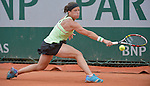 Lourdes Domingues Lino (ESP) loses to Andrea Petkovic (GER) 4-6, 6-4, 6-4 at  Roland Garros being played at Stade Roland Garros in Paris, France on May 28, 2015