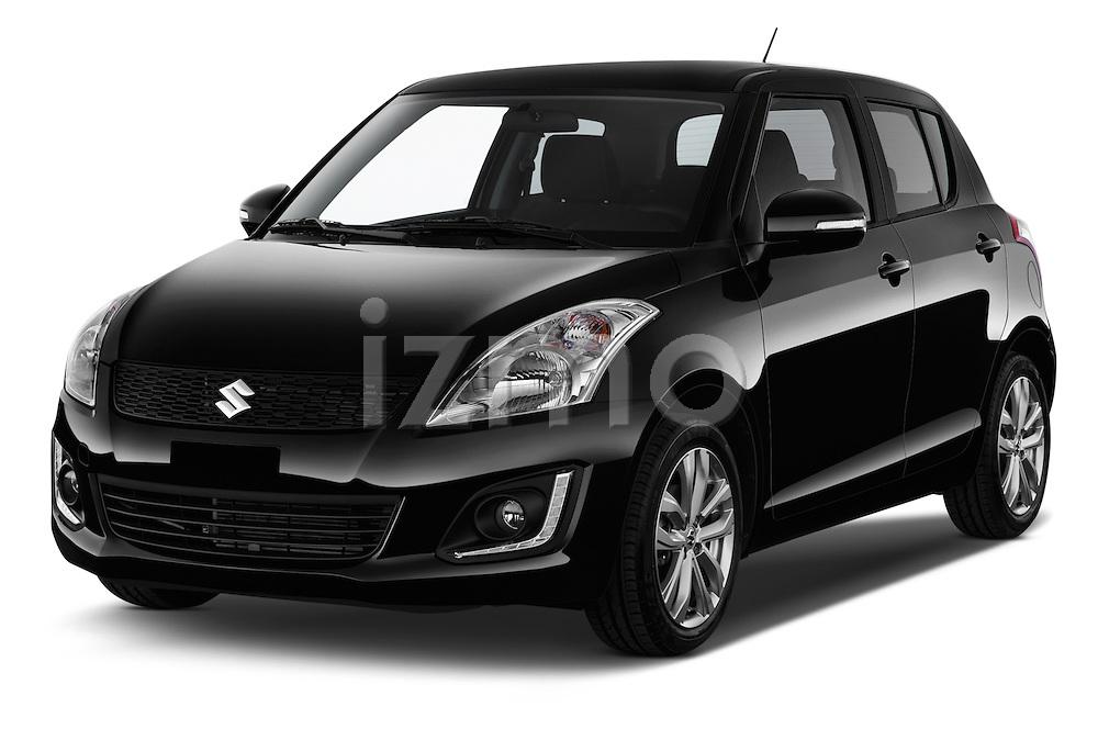 2013 Suzuki SWIFT Grand Luxe @ttraction 5 Door Hatchback 2WD Angular Front stock photos of front three quarter view