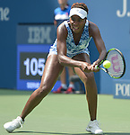 Venus Williams (USA) takes the first set from Monica Puig (PUR) 6-4 at the US Open in Flushing, NY on August 31, 2015.