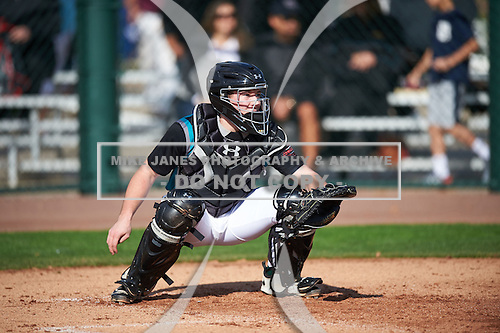 Stephen Lund (6) of VERONA AREA High School in Verona, Wisconsin during the Under Armour All-American Pre-Season Tournament presented by Baseball Factory on January 14, 2017 at Sloan Park in Mesa, Arizona.  (Mike Janes/Mike Janes Photography)