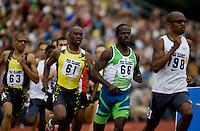 EUGENE, OR--From right, Jebrah Harris, Sherridan Kirk, Khavedis Robinson, Gary Reed race in the men's 800m at the Steve Prefontaine Classic, Hayward Field, Eugene, OR. SUNDAY, JUNE 10, 2007. PHOTO © 2007 DON FERIA
