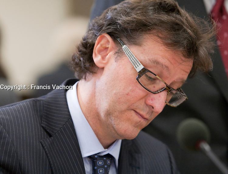Eric Downs at the Inquiry Commission into the appointment process for judges, more well know as the Commission Bastarache, September 16, 2010 in Quebec City.<br /> <br /> PHOTO :  Francis Vachon - Agence Quebec Presse