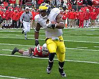 November 22, 2008. Michigan running back Brandon Minor.  The Ohio State Buckeyes defeated the Michigan Wolverines 42-7 on November 22, 2008 at Ohio Stadium, Columbus, Ohio.
