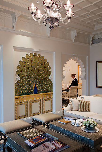 MUMBAI, INDIA - SEPTEMBER 27, 2010: The Rajput Suite in the heritage wing at the renovated Taj Mahal Palace and Tower Hotel in Mumbai. The Hotel has re-opened after the terror attacks of 2008 destroyed much of the heritage wing. The wing has been renovated and the hotel is once again the shining jewel of Mumbai. pic Graham Crouch