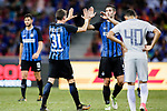 FC Internazionale Defender Federico Valietti (L) and FC Internazionale Midfielder Roberto Gagliardini (R) celebrating after winning Chelsea during the International Champions Cup 2017 match between FC Internazionale and Chelsea FC on July 29, 2017 in Singapore. Photo by Marcio Rodrigo Machado / Power Sport Images