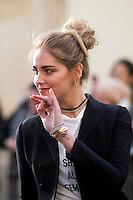 Chiara Ferragni attends the Christian Dior Haute Couture Spring Summer 2017 show as part of Paris Fashion Week on January 23, 2017 in Paris, France. # FASHION WEEK DE PARIS - DEFILE 'DIOR' - PEOPLE
