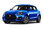 Stock pictures of low aggressive front three quarter view of 2020 Suzuki Swift-Sport Hybrid 5 Door Hatchback Low Aggressive