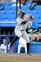 Tampa Yankees catcher Francisco Arcia #57 during a game against the Dunedin Blue Jays on April 11, 2013 at Florida Auto Exchange Stadium in Dunedin, Florida.  Dunedin defeated Tampa 3-2 in 11 innings.  (Mike Janes/Four Seam Images)