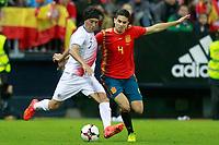Spain's Marc Bartra (r) and Costa Rica's Cristian Bolanos during international friendly match. November 11,2017.(ALTERPHOTOS/Acero) /NortePhoto.com