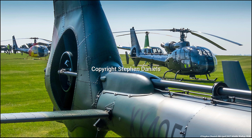 © Stephen Daniels <br /> Gazelle Helecopters at Gazelle Helicopters air show, Army base Middle Wallop, Nr Andover, Wilks