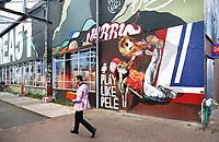 Nederland  Eindhoven 2017 .  Graffiti op Strijp-S. . Foto Berlinda van Dam / Hollandse Hoogte