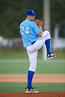 Jake Berry (24) during the WWBA World Championship at the Roger Dean Complex on October 10, 2019 in Jupiter, Florida.  Jake Berry attends Bishop O`Connell High School in Great Falls, VA and is committed to Virginia.  (Mike Janes/Four Seam Images)