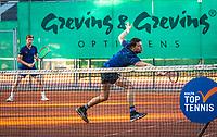 Netherlands, Oktober 24,  2021, Zuidwolde,  KIA Competition Men, premier league,  Suthwalda vs Spijkenisse, Doubles :    Boy Vergeer (NED) and Yannick Lupescu (NED) <br /> Photo: Henk Koster/tennisimages.com