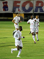 26th August 2020; Estadio Vila Capanema, Curitiba, Brazil; Copa Do Brasil, Parana Clube versus Botafogo; Thales of Paraná Clube celebrates his equalising goal in the 56th minute 1-1