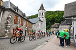 The breakaway during Stage 16 of the 2021 Tour de France, running 169km from Pas de la Case to Saint-Gaudens, France. 13th July 2021.  <br /> Picture: A.S.O./Charly Lopez   Cyclefile<br /> <br /> All photos usage must carry mandatory copyright credit (© Cyclefile   A.S.O./Charly Lopez)