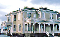 "Ferndale CA: House, 1880's, 831 Main St. ""A little Italianate mixed with Queen Anne."""