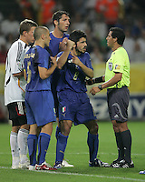 Benito Archundia, Gennaro Gattuso.  Italy defeated Germany, 2-0, in overtime in their FIFA World Cup semifinal match at FIFA World Cup Stadium in Dortmund, Germany, July 4, 2006.