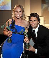 01-06-10, Tennis, France, Paris, Roland Garros, ITF Awarsds dinner, Kampioenen Esther Vergeer en Roger Federer